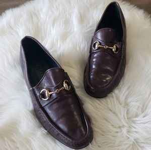 B2G1 VTG Gucci Gold Horsebit Driving Loafers